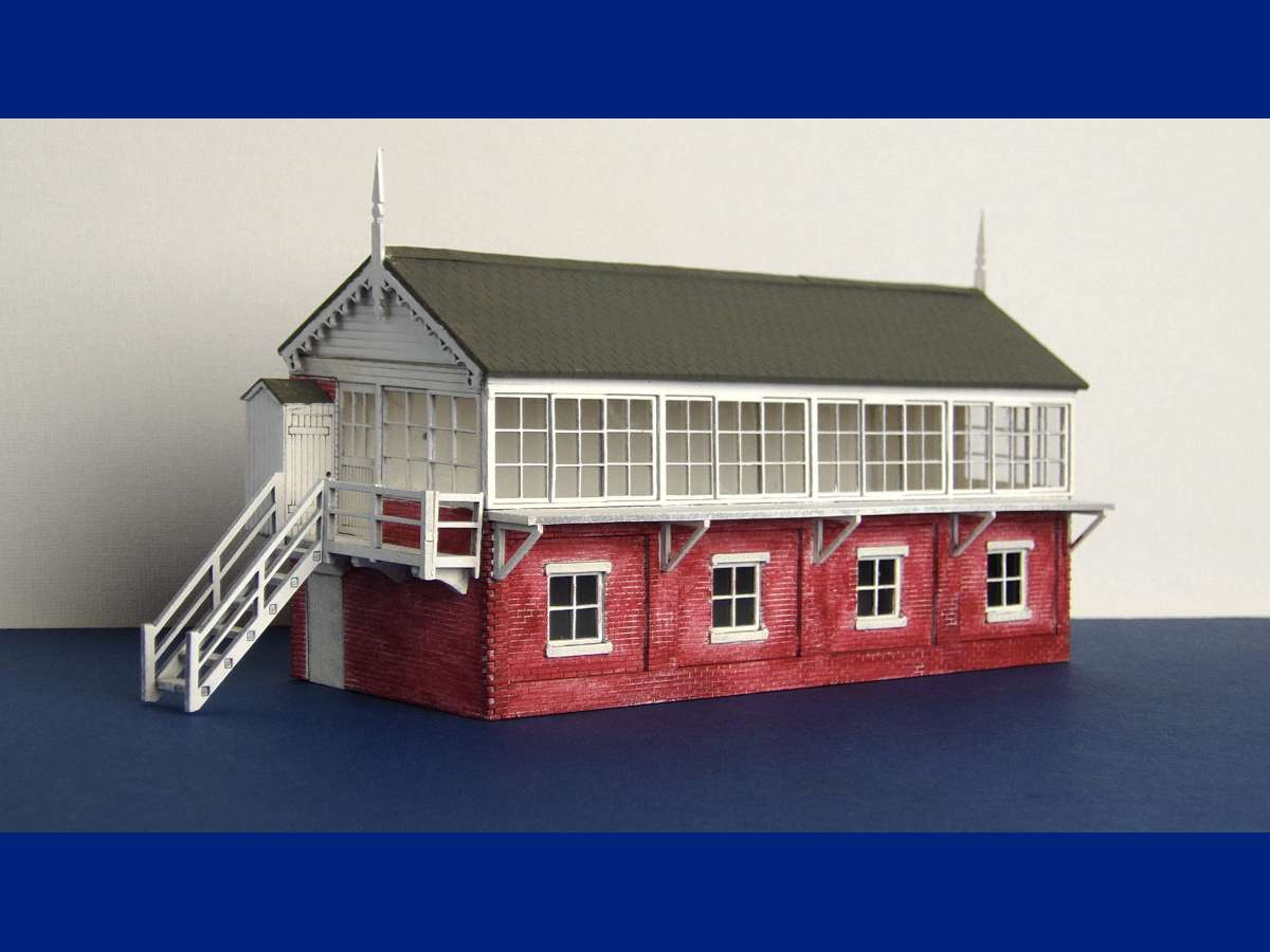 Picture of painted large signal box using simple techniques. Signal box painted using off the shelve acrylic paints Submitted by LCUT creative on 4th January 2015