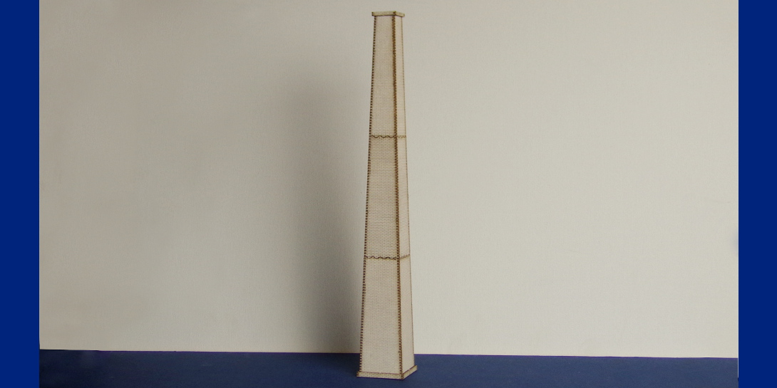 B 00-24 OO gauge brick chimney