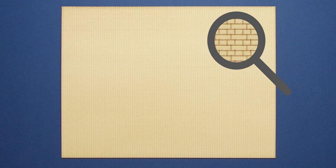 BM 40-02 OO gauge sheet of brickwork in English bond
