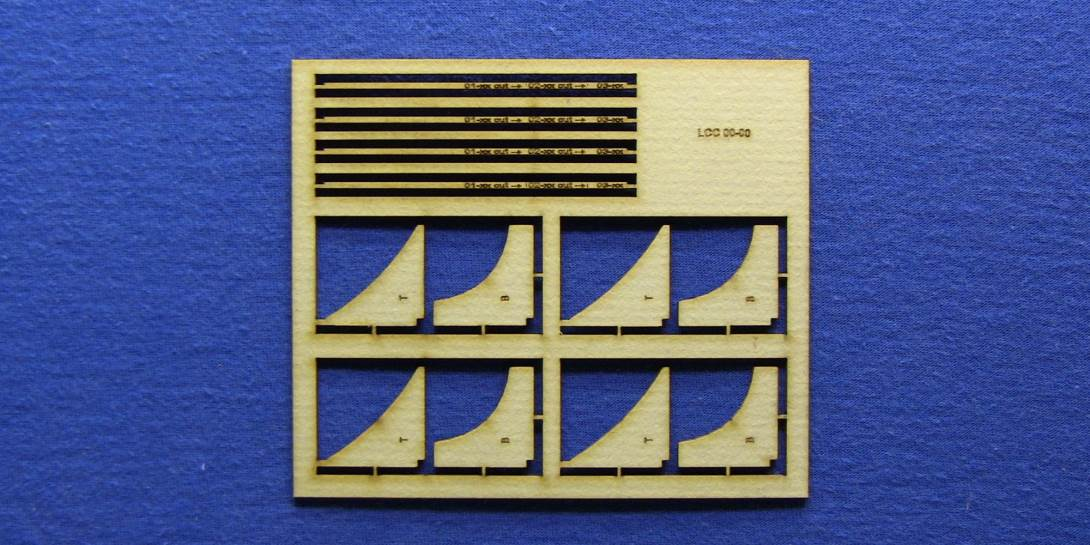 LCC 00-00 OO gauge kit of 4 corner supports