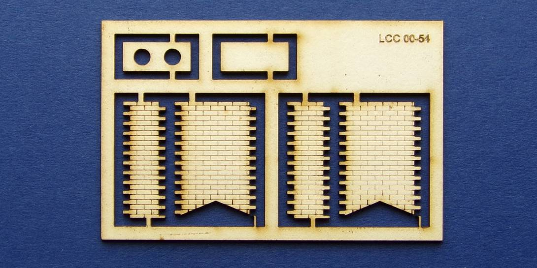 LCC 00-54 OO gauge low angle double chimney kit