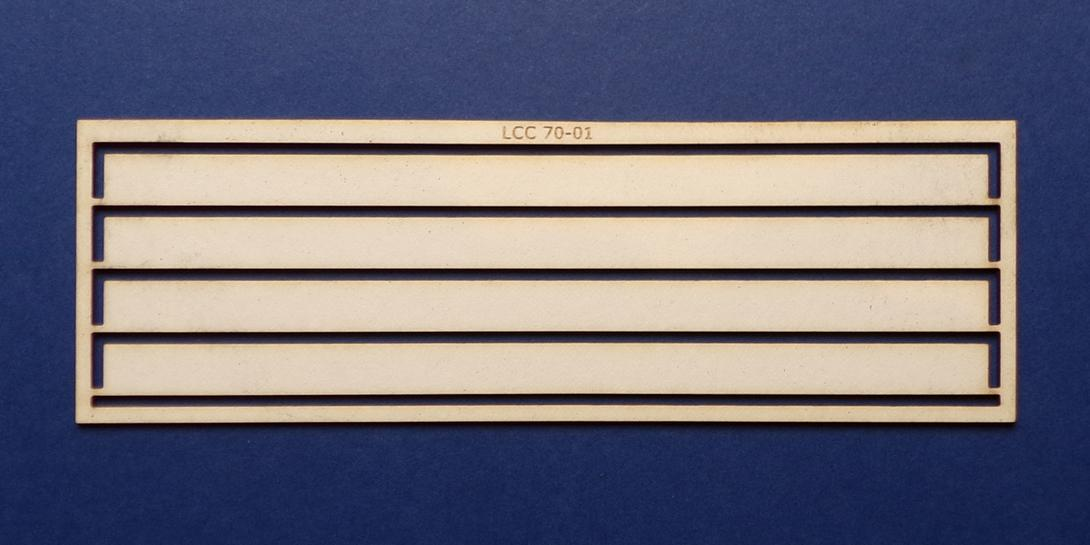 LCC 70-01 O gauge wall support strips