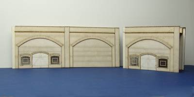 LCC A 00-02 OO gauge brick arch unit warehouse windows and door