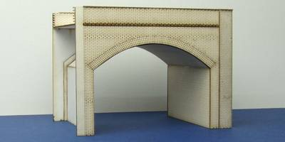 A 00-05 OO gauge double brick viaduct