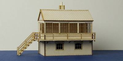 LCC B 00-05 medium signal box with left and right stairs options