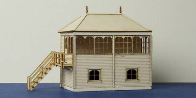 B 00-06 wooden medium signal box with left and right stairs options