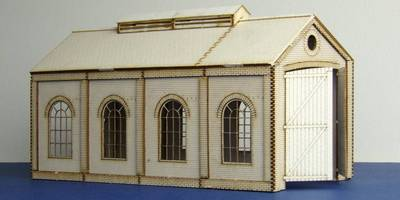 LCC B 00-08 OO gauge small single track engine shed with round windows
