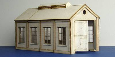 LCC B 00-09 OO gauge small single track engine shed with square windows