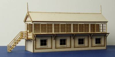 LCC B 00-12 OO gauge large signal box with left and right stairs options