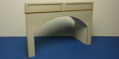 B 70-17P O gauge retaining wall tunnel portal