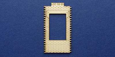 LCC 02-20 OO gauge single square window panel type 2