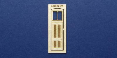 LCC 02-26 OO gauge single square door with transom type 1