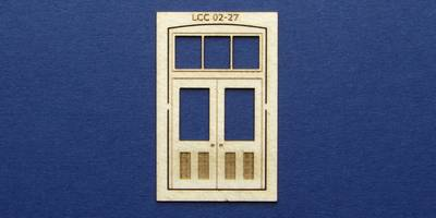LCC 02-27 OO gauge double square door with transom type 1