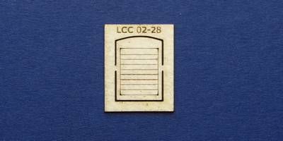 LCC 02-28 OO gauge single square window with blinds
