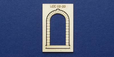 LCC 02-33 OO gauge stone decoration for single round window