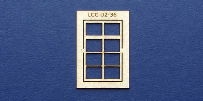 LCC 02-36 OO gauge square window with transom type 1