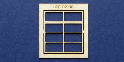 LCC 02-38 OO gauge square window with transom type 2