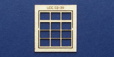 LCC 02-39 OO gauge square window with transom type 3