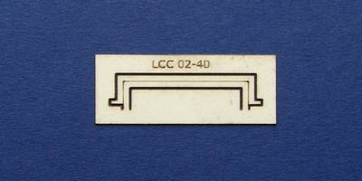 LCC 02-40 OO gauge decoration for single square window type 2