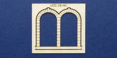 LCC 02-41 OO gauge stone decoration for double round window