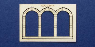 LCC 02-47 OO gauge stone decoration for triple round window