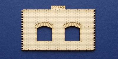LCC 03-00 OO guage small signal box front wall type 1