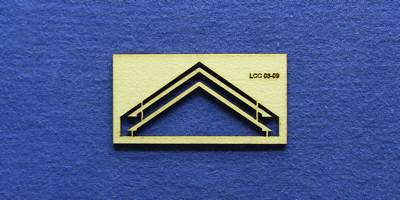 LCC 03-09 OO gauge pair of small signal box gable barge boards