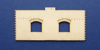 LCC 03-11 OO gauge medium signal box front wall type 1