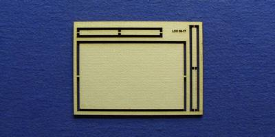 LCC 03-17 OO gauge medium signal box floor