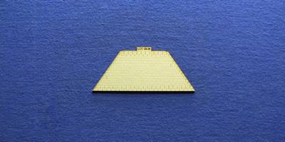 LCC 03-29 OO gauge medium signal box hipped roof tile panel