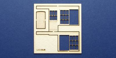 LCC 03-45 OO gauge set of windows for 03-12 type 1