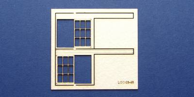LCC 03-48 OO gauge set of windows for 03-15 type 1