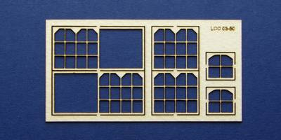 LCC 03-50 OO gauge set of windows for 03-21 type 2
