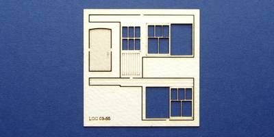 LCC 03-55 OO gauge set of windows for 03-01 type 3