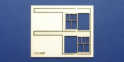 LCC 03-57 OO gauge set of windows for 03-03 type 3