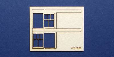LCC 03-58 OO gauge set of windows for 03-04 type 3