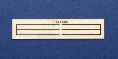 LCC 03-59 OO gauge wooden wall for 03-05