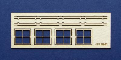 LCC 03-61 OO gauge set of windows for 03-33 type 4