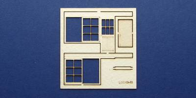 LCC 03-63 OO gauge set of windows and doors for 03-35 type 4