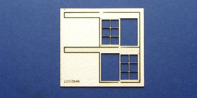 LCC 03-64 OO gauge set of windows for 03-36 type 4
