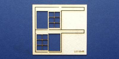 LCC 03-65 OO gauge set of windows for 03-37 type 4