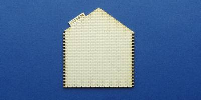 LCC 04-36 OO gauge gabled wall for goods shed office