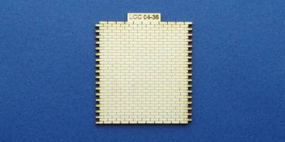LCC 04-38 OO gauge wall for goods shed office