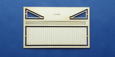 LCC 04-47 OO gauge small goods shed canopy