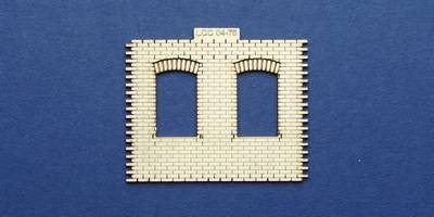 LCC 04-75 OO gauge industrial office front panel - sloped