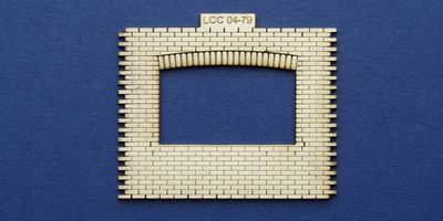 LCC 04-79 OO gauge industrial office front panel with wide window