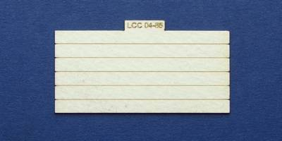 LCC 04-85 OO gauge plank panel for coal staithes type 2