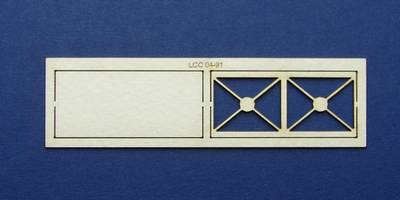 LCC 04-91 OO gauge steel panel for water tank - front and back