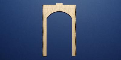 LCC 70-94 O gauge retaining wall standard unit front panel