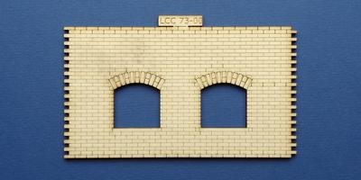 LCC 73-00 O gauge small signal box front wall
